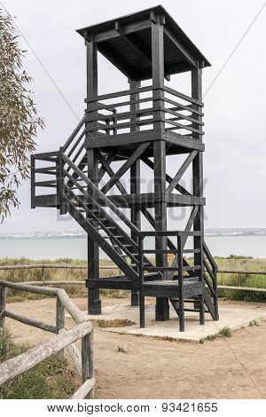 black observation tower 2