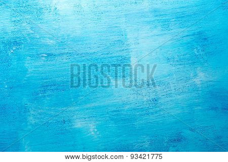 Colored in blue wooden background