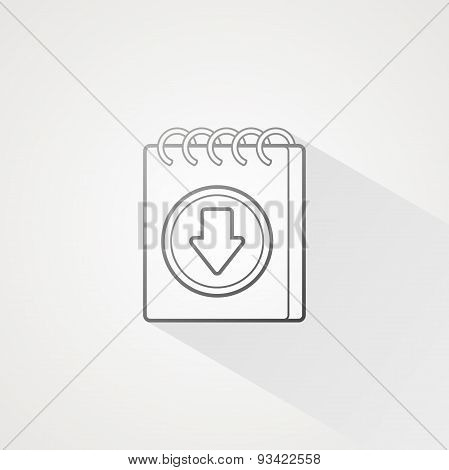 Notepad Line Icon
