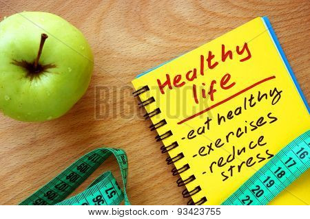Notepad with healthy life guide