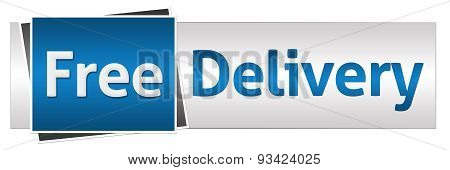 Free Delivery Blue Grey Horizontal