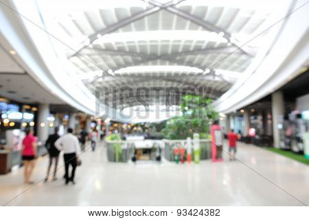 Blur Or Defocus Background Of Department Store Or Shopping Center Interior