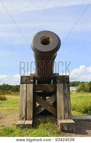 Cannon In Aland Islands.