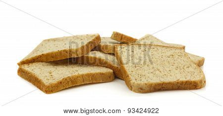 Group Of Sliced Whole Wheat Breads