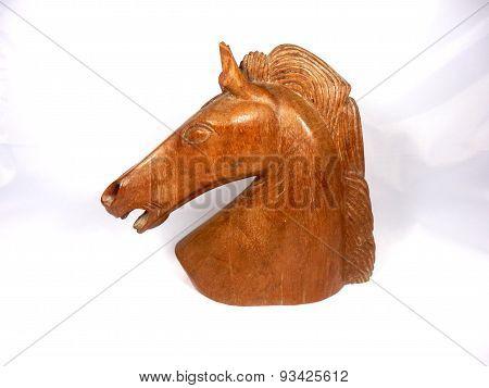 Wooden Horse Head