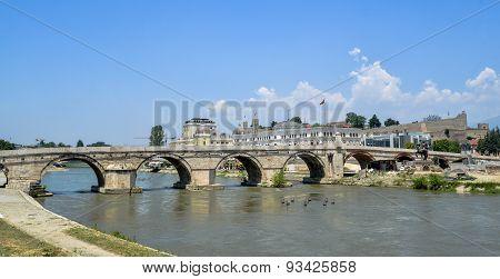 Stone Bridge In Skopje.macedona