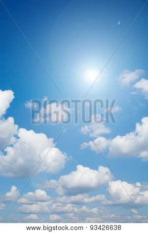 Lens flare And Sunlight With Clouds