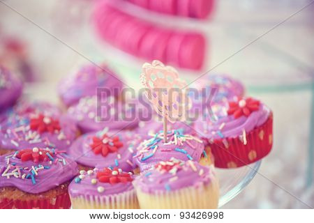 Delicious Cupcakes On Wedding Day