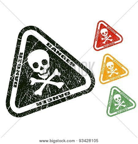 Danger skull stamp