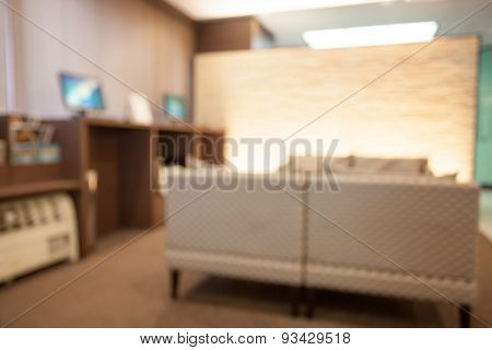 Abstract background of Hotel interior shallow depth of focus.