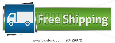 Free Shipping Green Blue With Truck