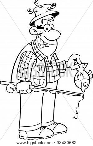 Cartoon fisherman