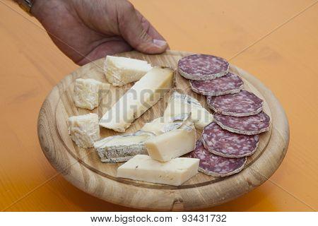 Mixed Cheese Platter And Salami