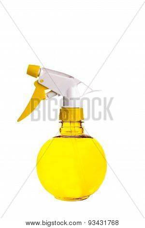 Yellow Spray Bottle On White