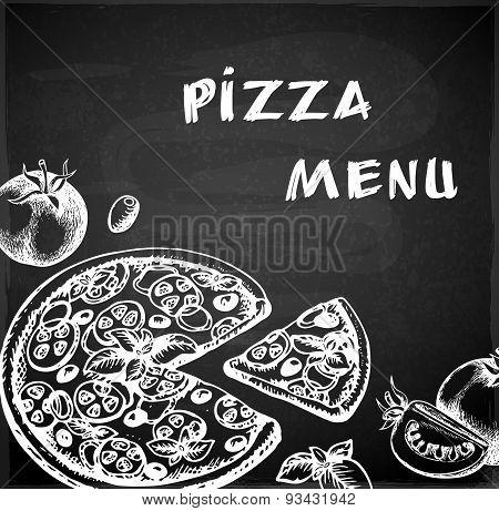 Vintage Hand Drawn Pizza Menu