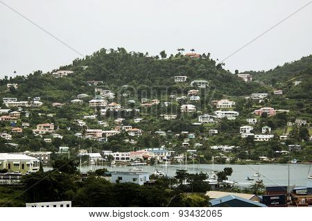 View of the island Grenada, St. George's, Caribbean