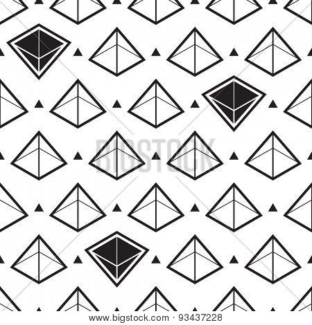 Pyramid abstract isometric seamless pattern