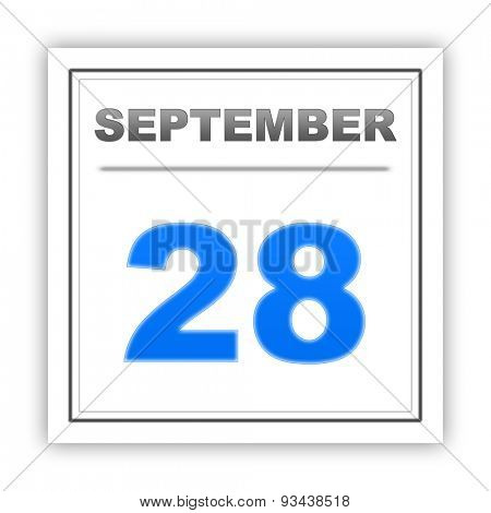 September 28. Day on the calendar. 3d
