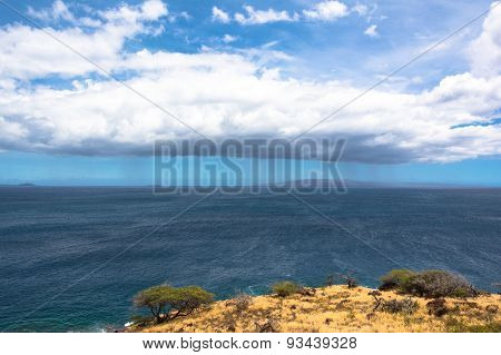 Clouds on the ocean, Maui, Hawaii
