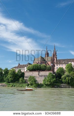 Basel Cityscape With Ferry