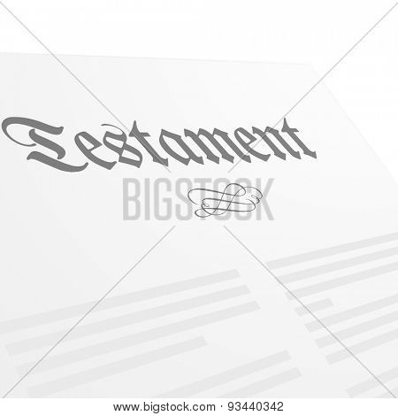 detailed illustration of a Testament letter, eps10 vector