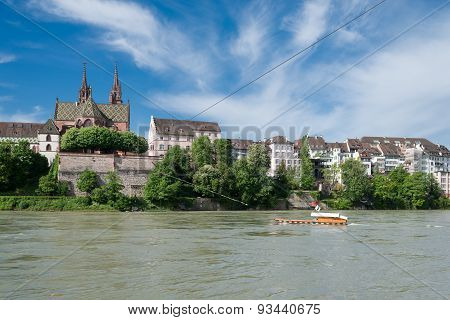 Crossing The Rhine At Basel, Switerland