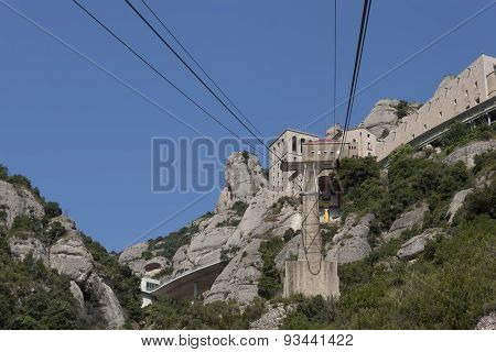 Montserrat, The Cable Car To The Monastery