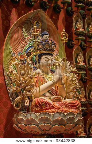 The Lord Buddha in Chinese Buddha Tooth Relic Temple, Singapore