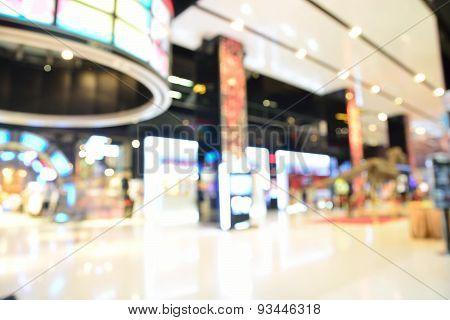 Blur Or Defocus Background Of Movie Theatre In Shopping Mall