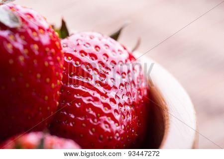 Fresh Red Strawberry, closeup