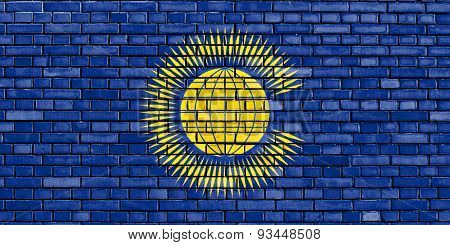 Flag Of Commonwealth Of Nations Painted On Brick Wall