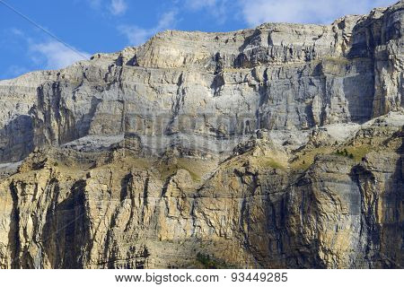 La Fraucata Wall in the Pyrenees, Ordesa Valley National Park, Aragon, Huesca, Spain.