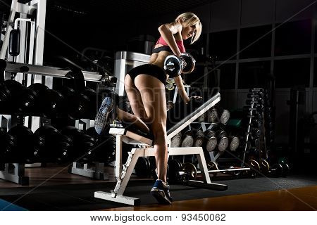 Fitness Girl In Gym