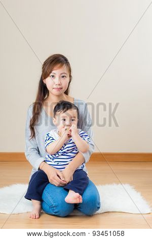 Young mum with her son