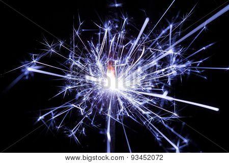 sparkler on black