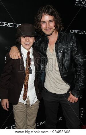LOS ANGELES - JUN 10:  Isaak Presley, Riley Bodenstab at the