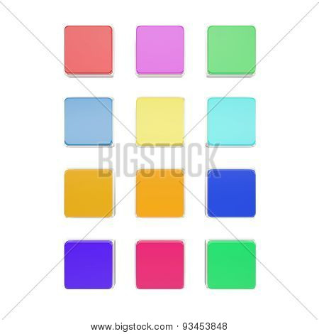 Set blank icons for your design isolated on white background.