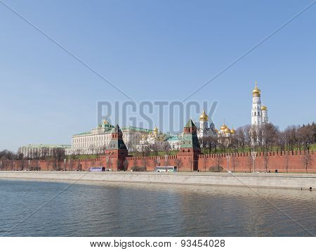 The Kremlin And The Kremlin Embankment