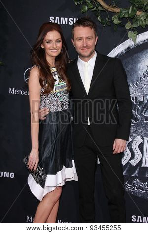 LOS ANGELES - JUN 9:  Lydia Hearst, Chris Hardwick at the