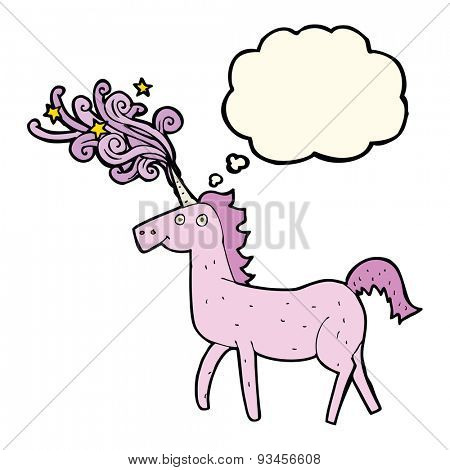 cartoon magic unicorn