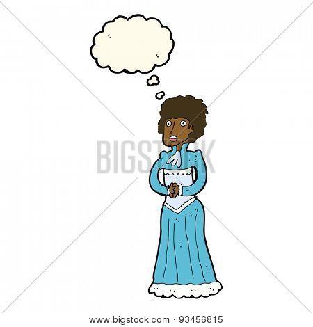 cartoon victorian woman