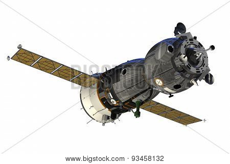 Spacecraft With Open The Solar Panels