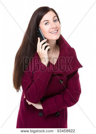 Woman chat with mobile phone