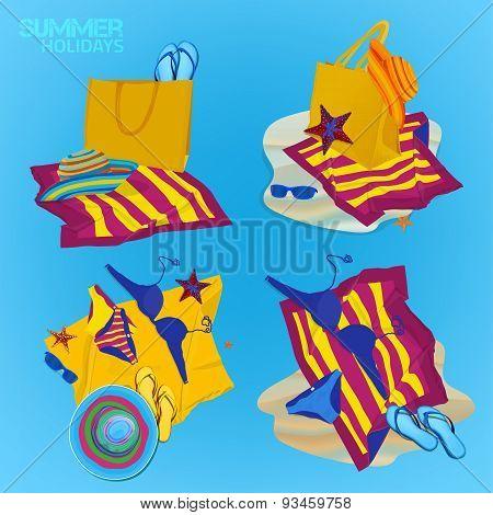 Beach bag set