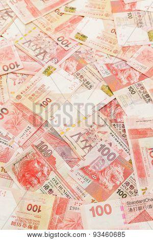 One hundred Hong Kong Dollar background