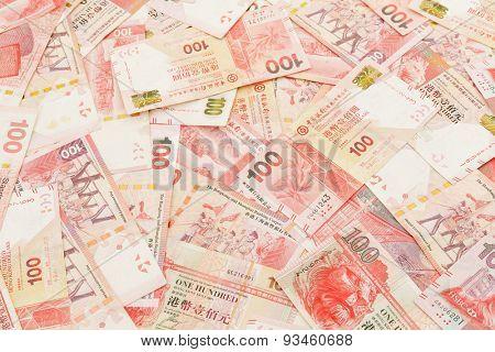 Stack of One hundred Hong Kong Dollar