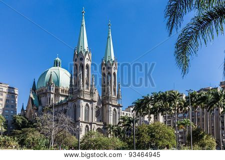 Se Cathedral in Sao Paulo, Brazil
