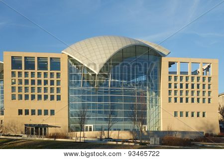 WASHINGTON DC - December 26: Headquarters of US Institute of Peace in Washington DC on December 26, 2014. The building  opened in March 2011.
