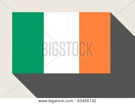 Republic of Ireland flag in flat web design style.