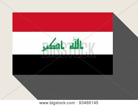 Iraq flag in flat web design style.
